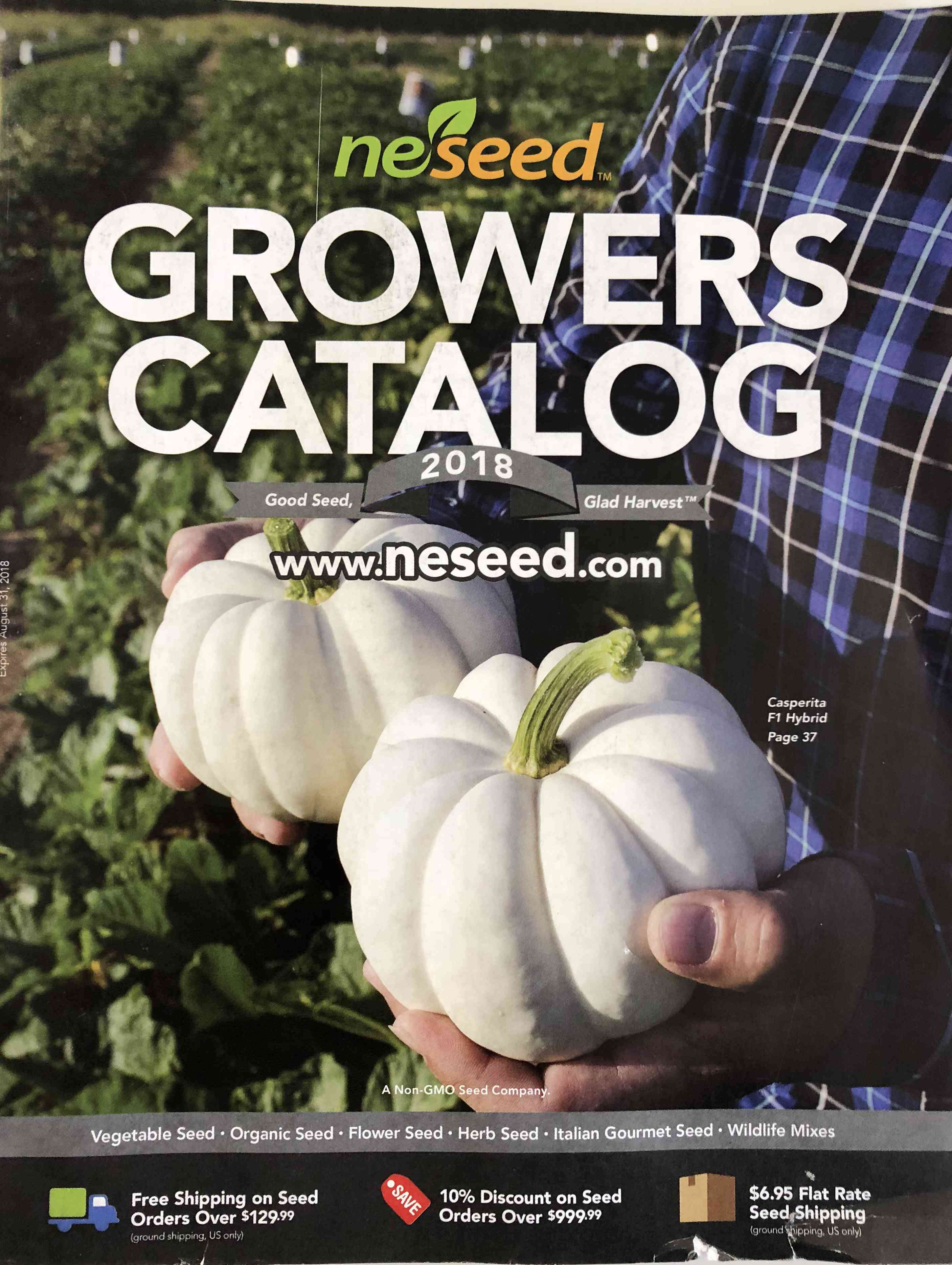 The cover of the 2018 NESeed catalog