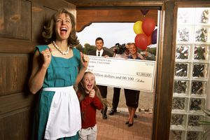 Mother and daughter winning lottery