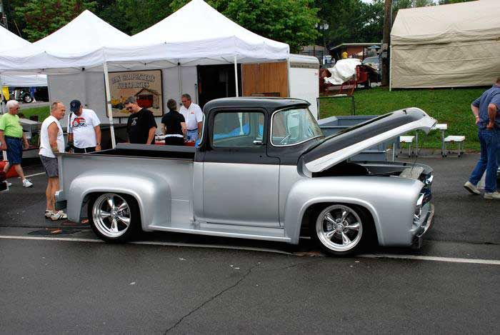 Lowered 1956 Ford F-100 Pickup Truck