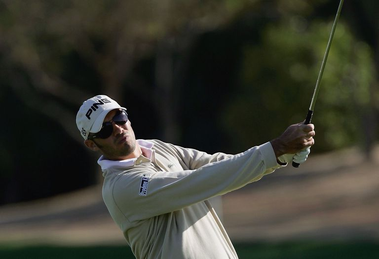 Gregory Havret plays a punch shot during the Abu Dhabi Championship.