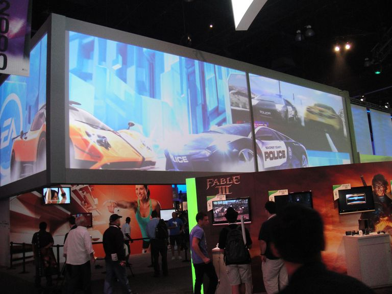 Need for Speed scene at gaming conference