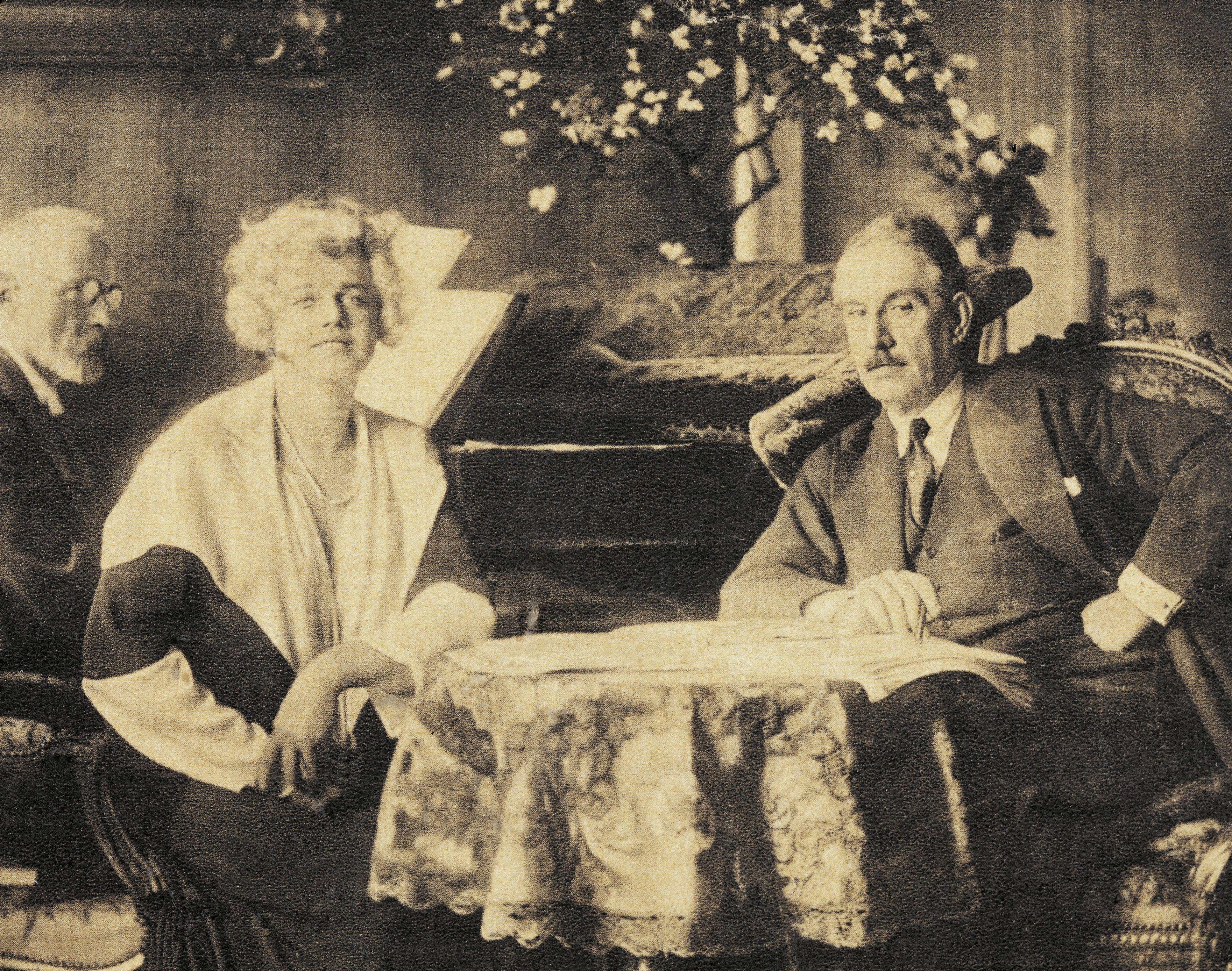 The Italian composer Giacomo Puccini in Vienna with the Czech soprano Maria Jeritza