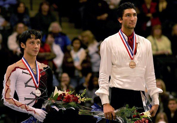 Johnny Weir and Evan Lysacek Tie at the 2008 US National Figure Skating Championships