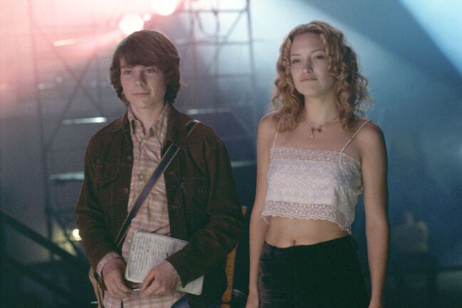 Actors Patrick Fugit and Kate Hudson in the 2000 film 'Almost Famous'