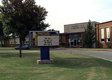 Sheppard Elementary School located on base.