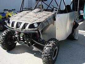 Custom ATV in the sunlight.