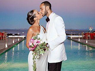 Alicia Keys in Vera Wang wedding dress