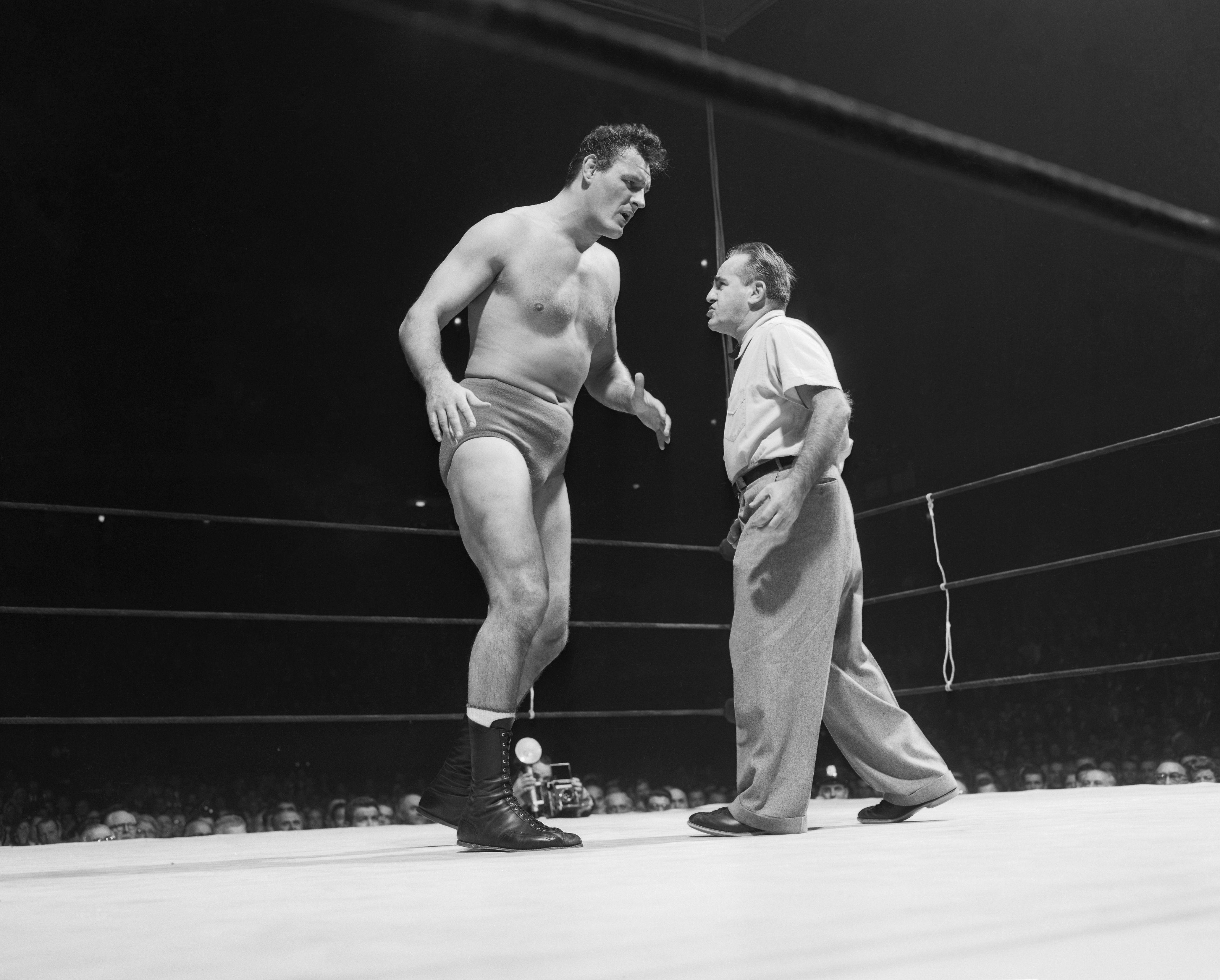 Referee Warning Wladek 'Killer' Kowalski on Wrestling