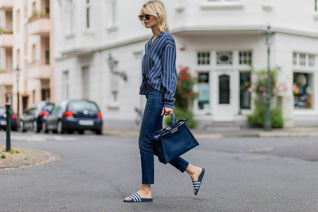 Street style fashion in jeans