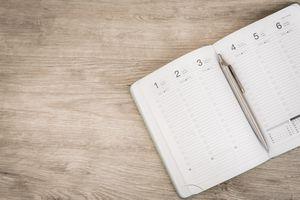 Empty datebook
