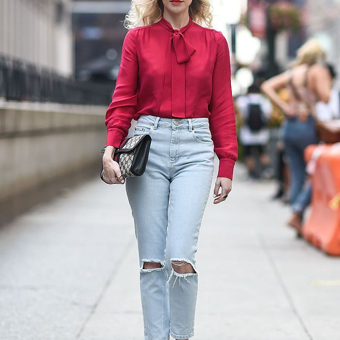 Street style ripped jeans