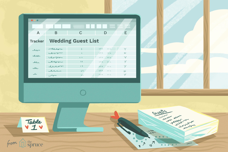 wedding list template website