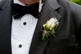 Boutonniere on man's suit
