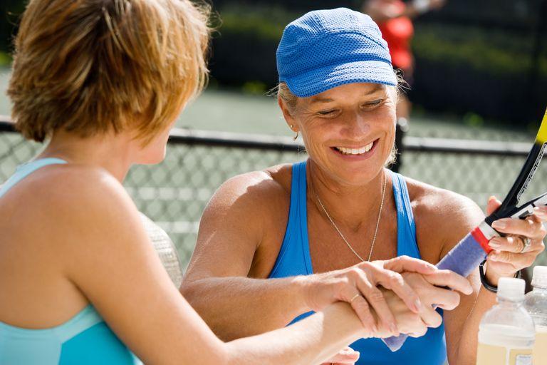 Tennis racket grip demonstration