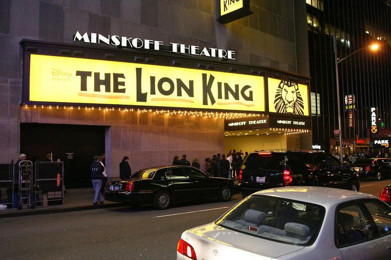 'The Lion King' marquee at the Minskoff Theatre