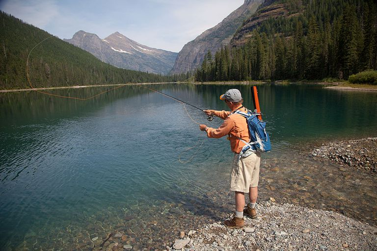 Fly fishing in Glacier National Park, Montana