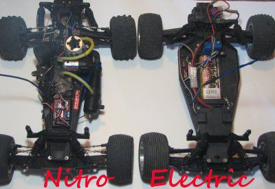 Nitro and electric RC vehicles compared