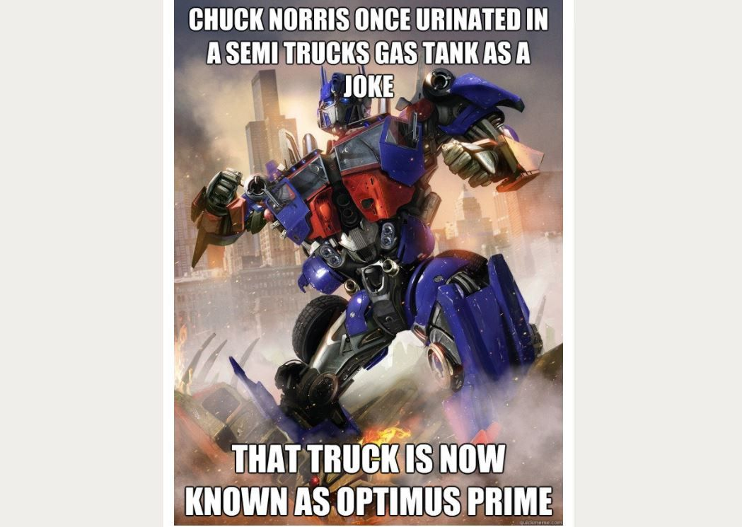 chuck norris optimus prime meme