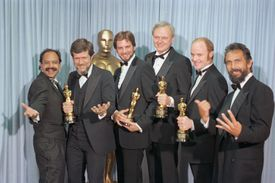 An image of the Academy Award for Best Visual Effects winners for the 1983 film Return of the Jedi