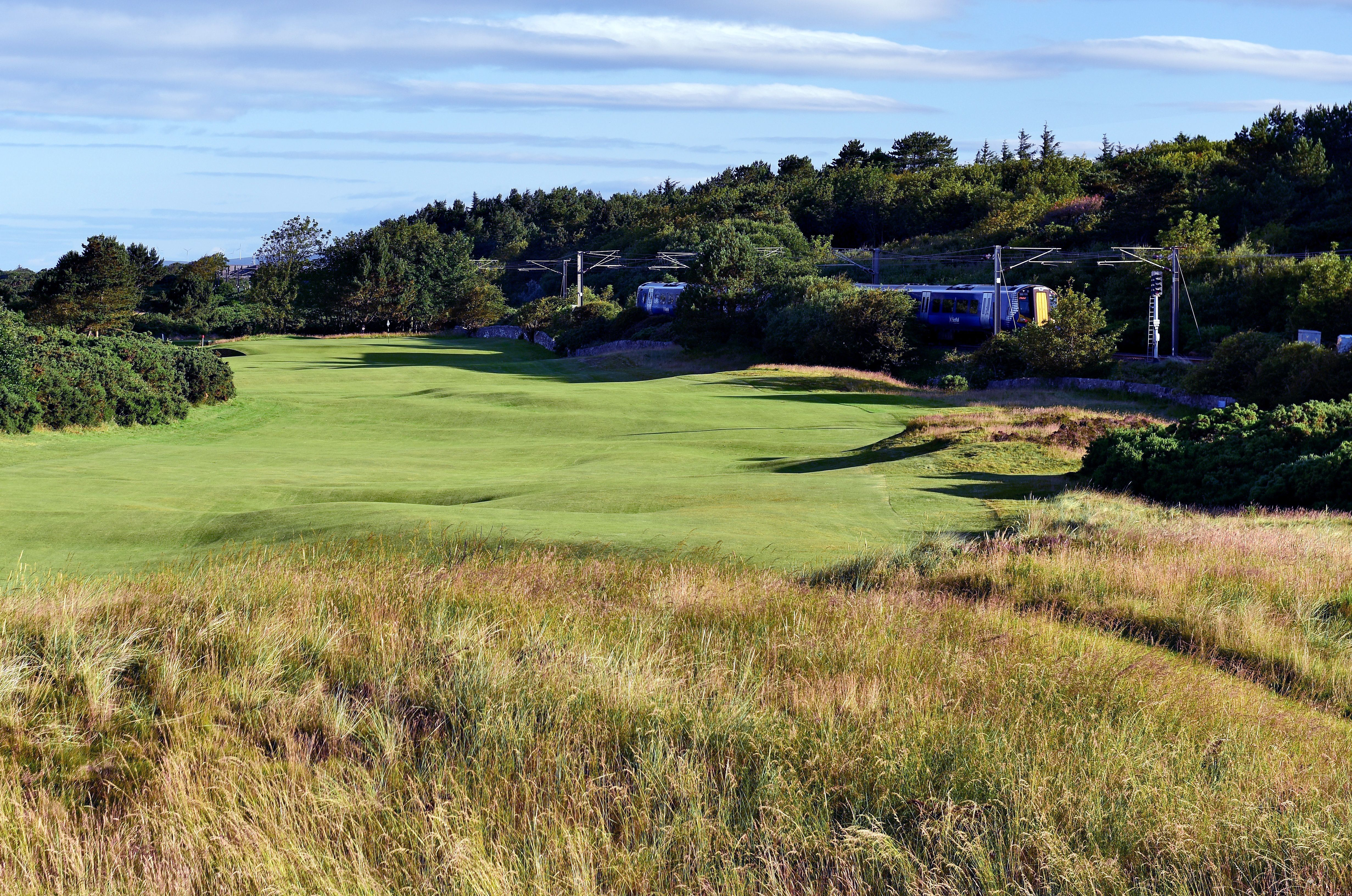 The 490 yards par 4, 11th hole 'The Railway' on the Old Course at Royal Troon