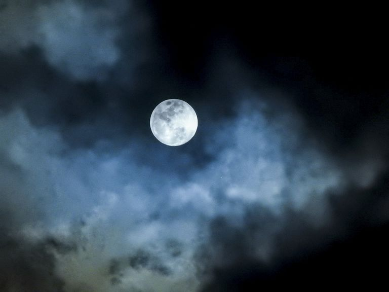 Full moon in the sky