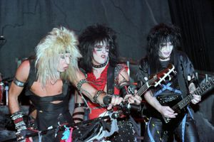 Motley Crue performs at Madison Square Garden on the Shout at the Devil tour.