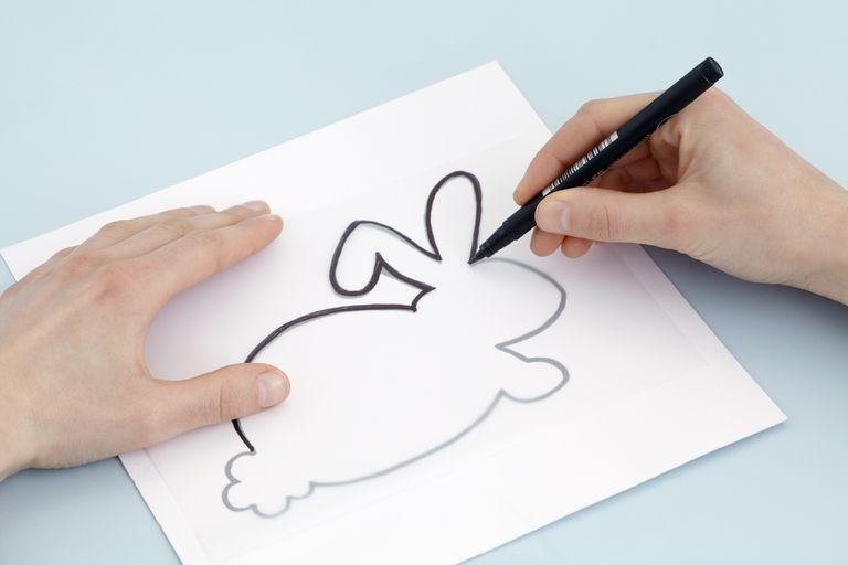 drawing rabbit design on tracing paper 5c51cb6346e0fb a2f81