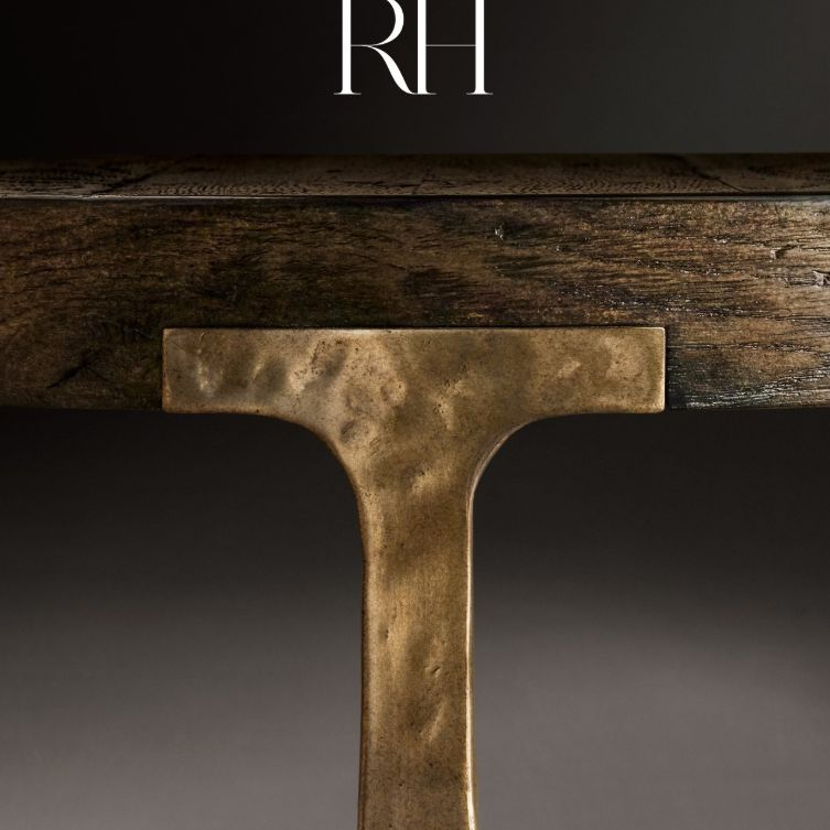 The Fall 2019 Restoration Hardware catalog cover featuring a close-up of a table