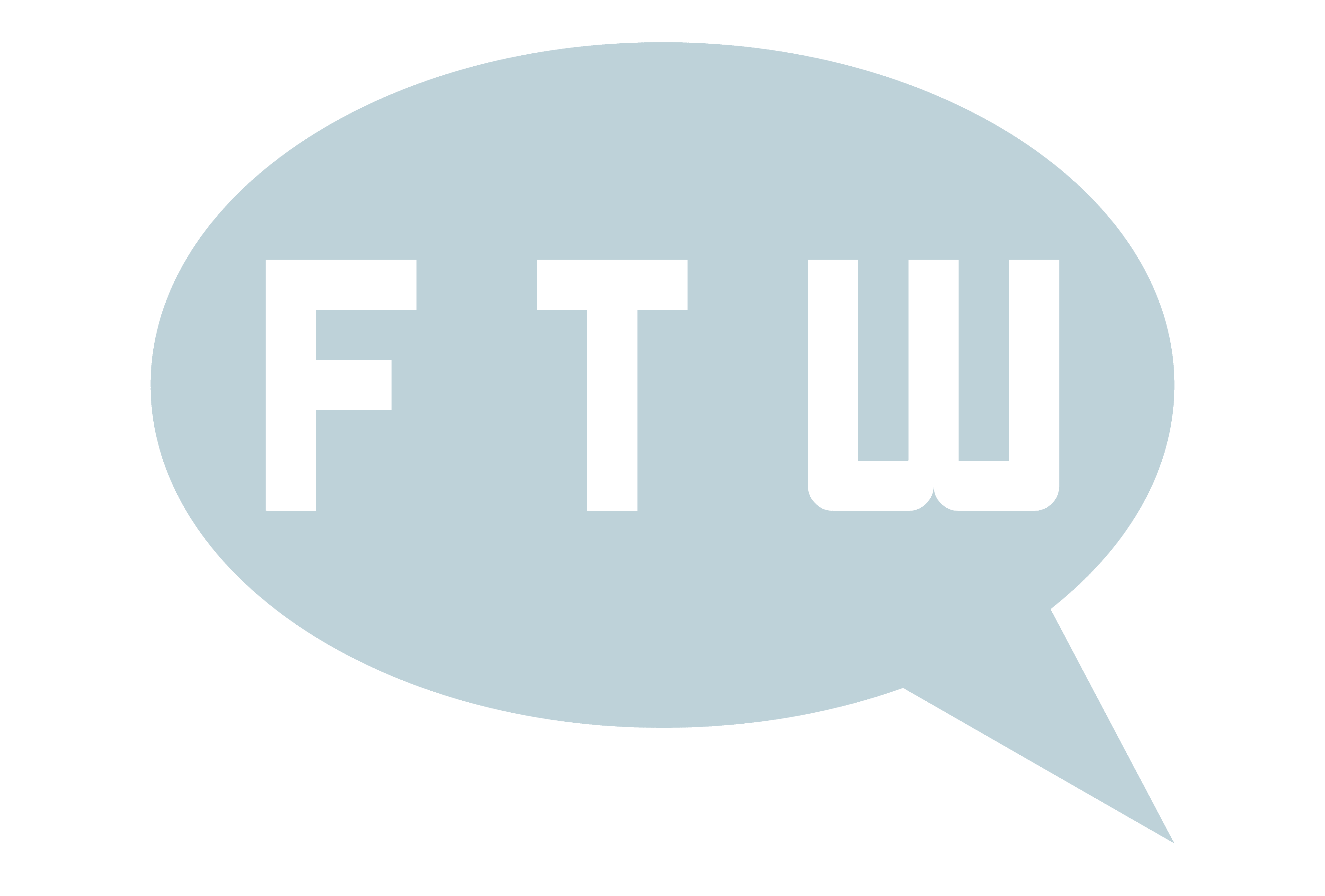 Cartoon word balloon with