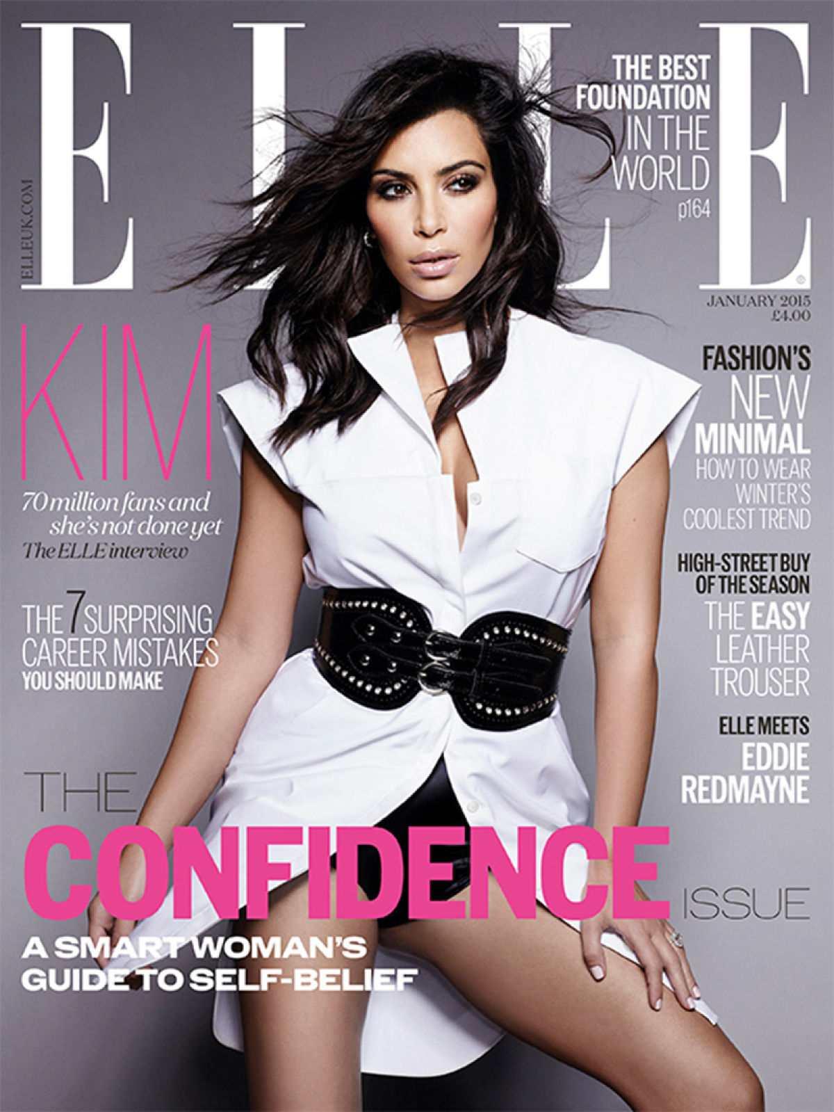 Kim Kardashian Elle Magazine