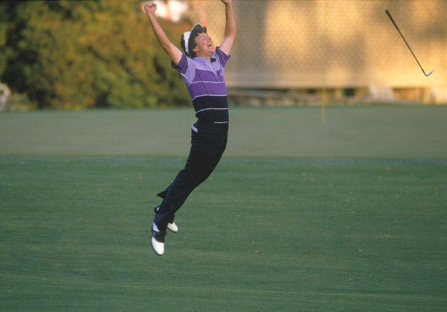 Larry Mize at the 1987 Masters