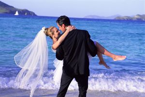 Photo of a bride and groom, illustrating About.com's Wedding Sweepstakes List.