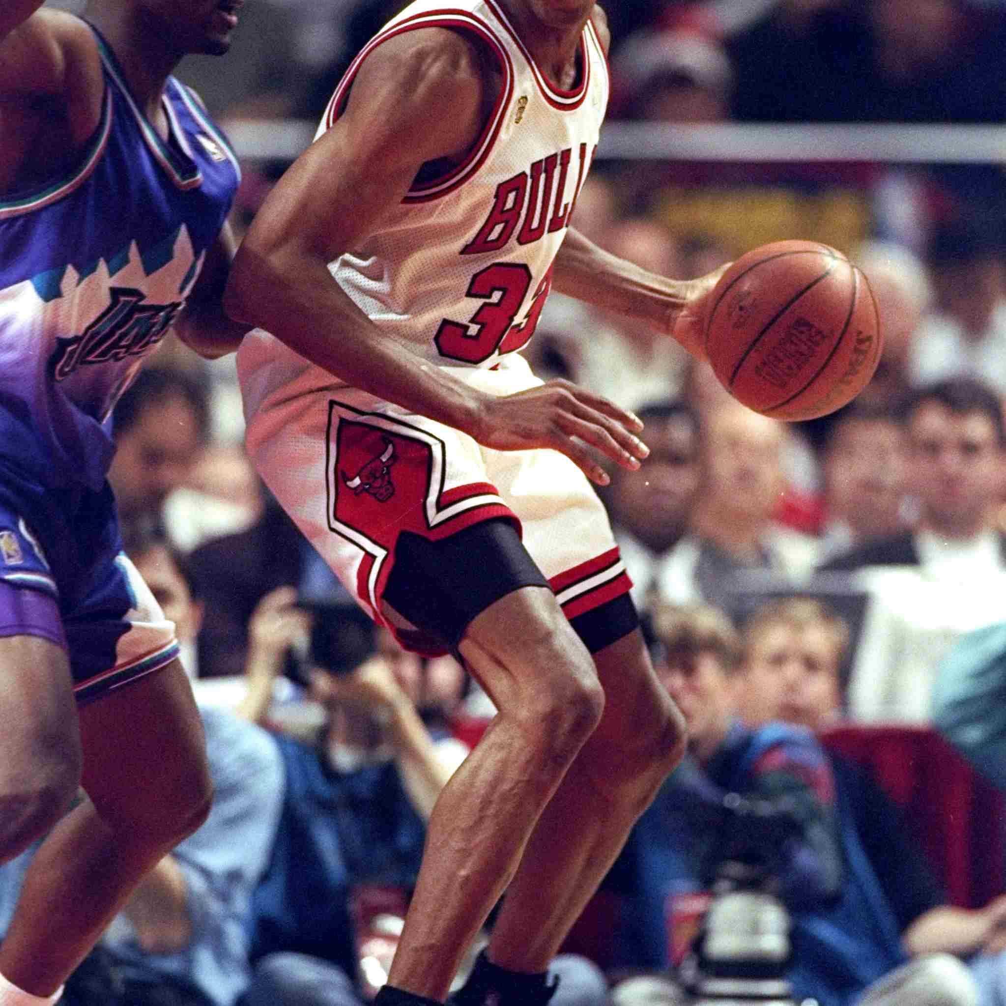 Scottie Pippen wearing Nike Air Pippen