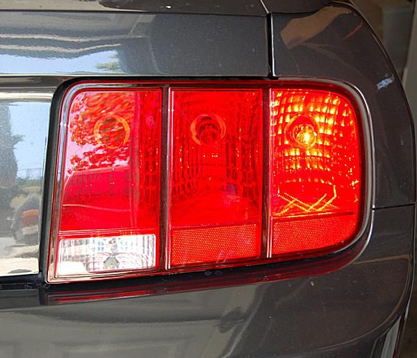 A 2008 Ford Mustang taillight assembly.