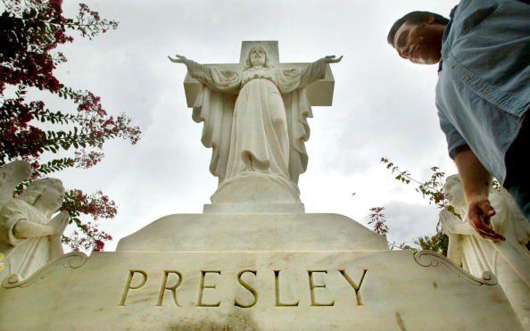 Famous grave site of Elvis Presley