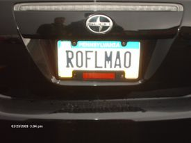 License plate reads