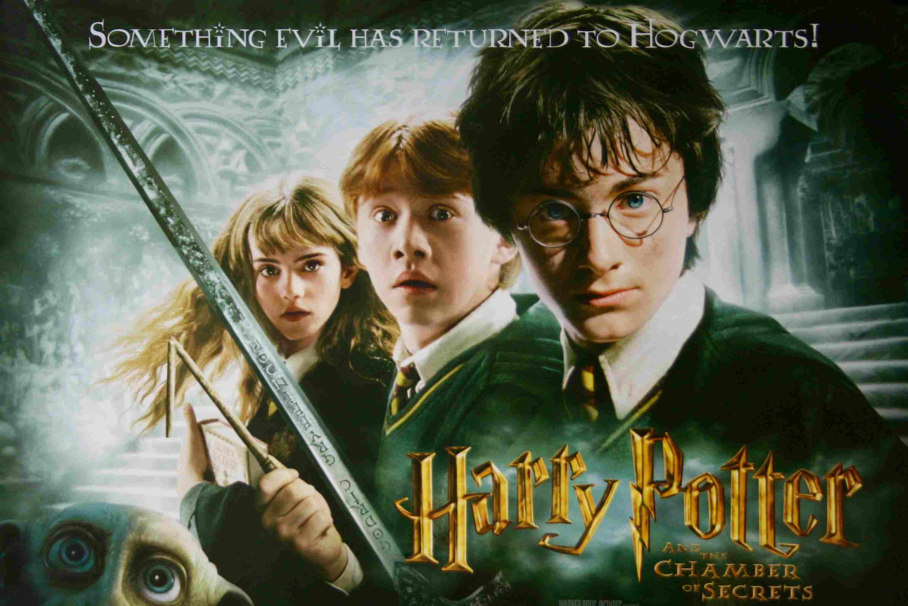 Harry Potter and the Chamber of Secrets movie poster.