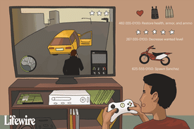 Person playing GTA: Liberty City on Xbox