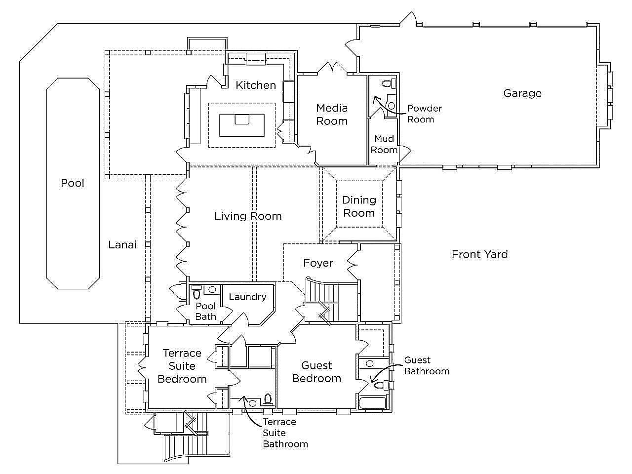 Floor Plan of the 2016 Dream Home