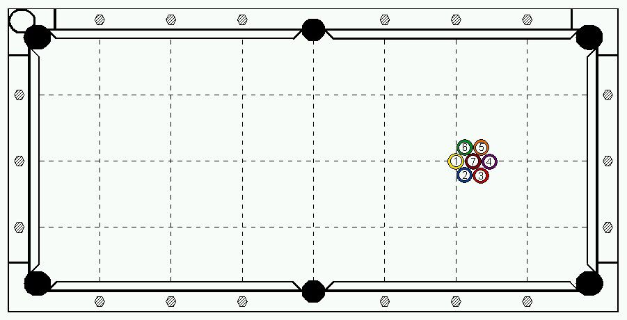 Racked for 7-Ball Billiards