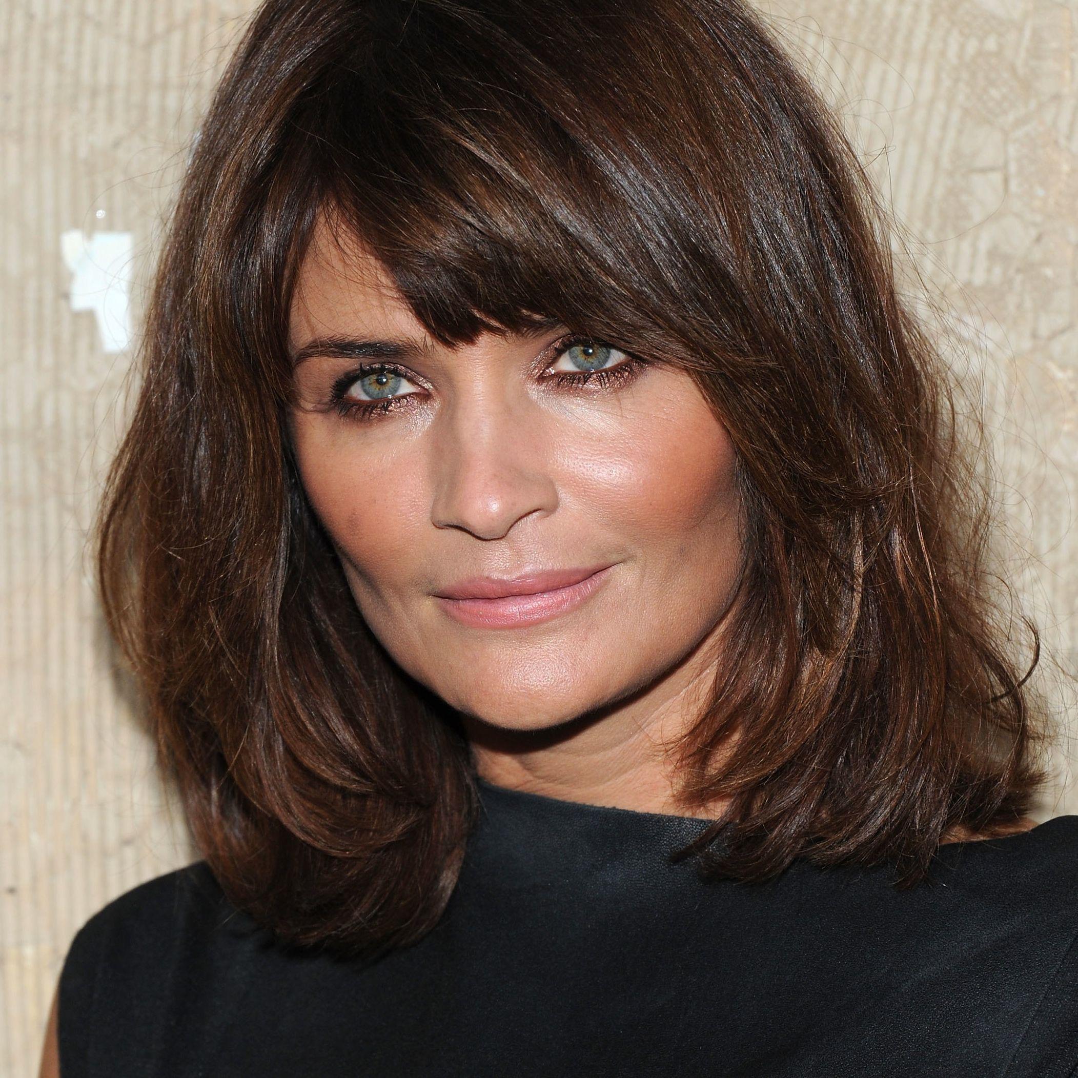 Side-swept Bangs, Shoulder-length Hair for Square Faces