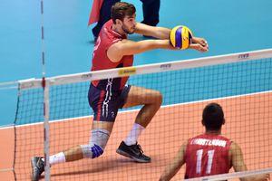 A men's volleyball match.