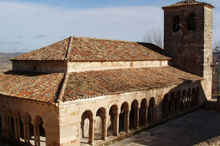 Romanesque Church of San Salvador in the Village of Carabias, Spain