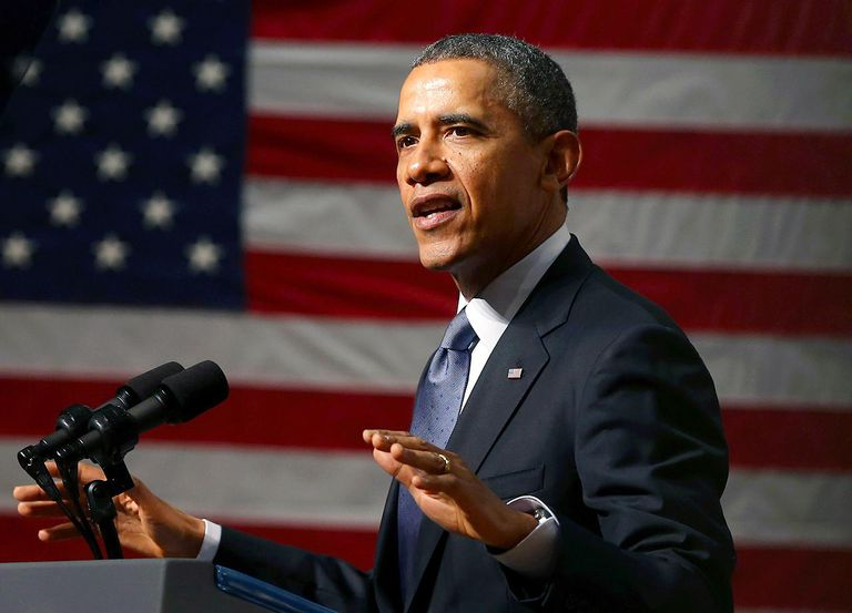 President Obama Speaks At Bladensburg High School In Maryland