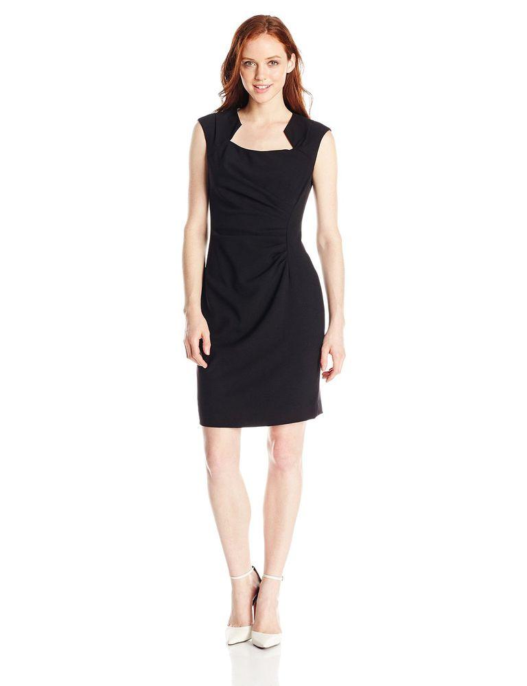 559b56a50fa Calvin Klein Women s Petite Cap-Sleeve Sheath Dress