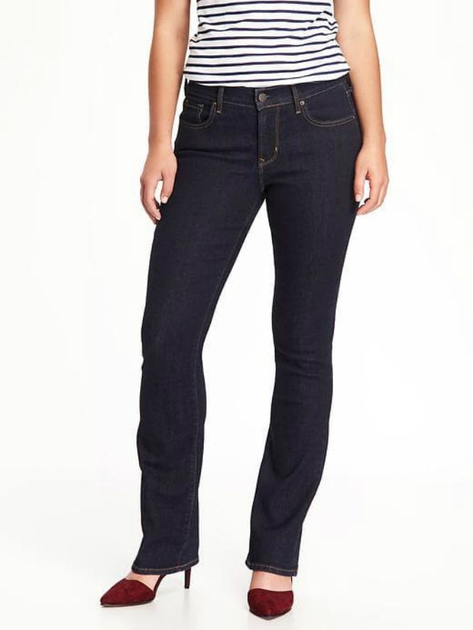 Old Navy Curvy Boot Cut Jeans in New Rinse