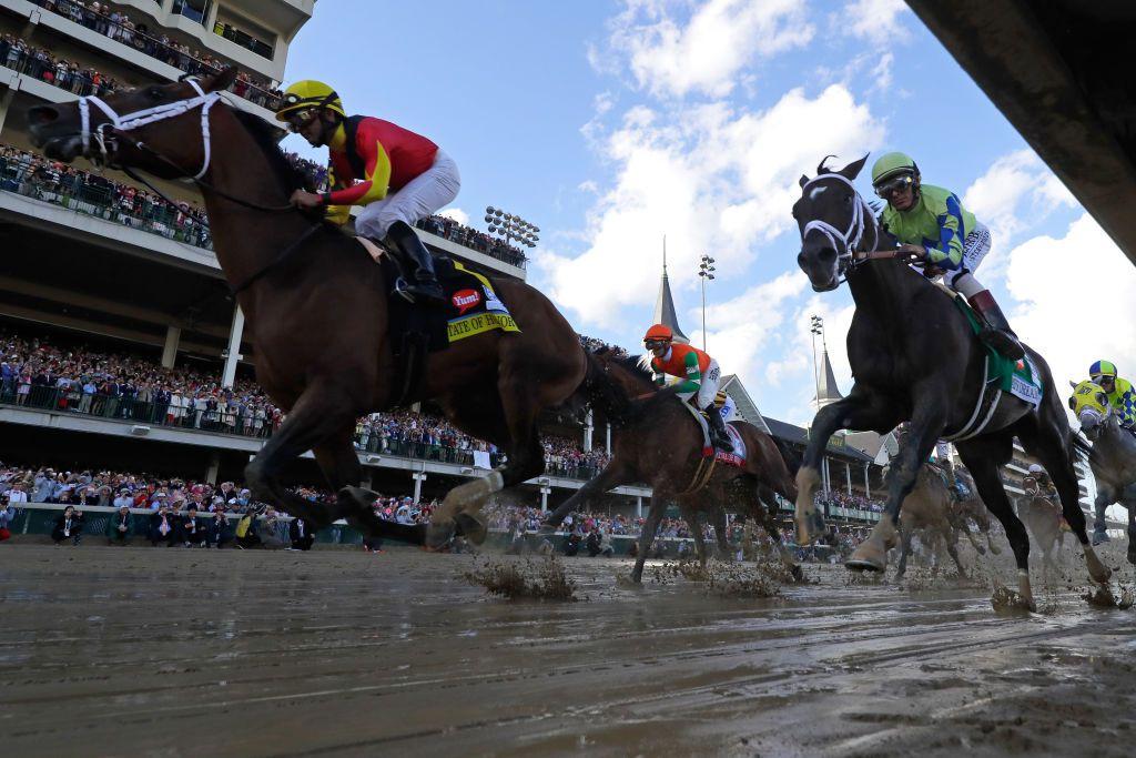Racers in the Kentucky Derby