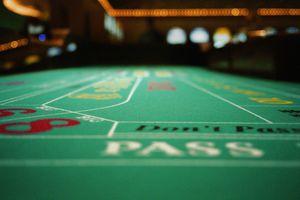 Craps table in casino, close-up