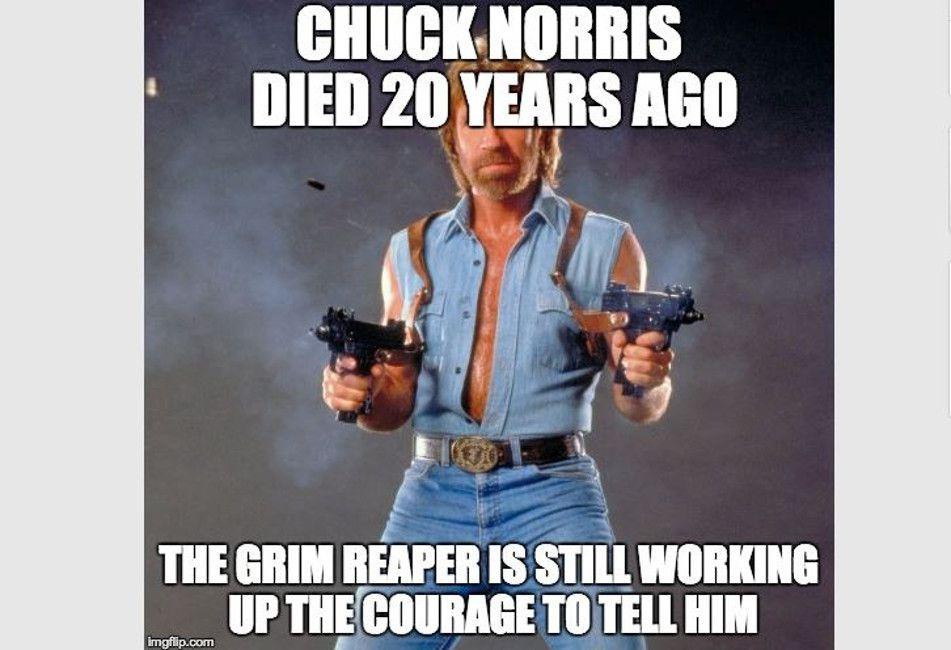 chuck norris grim reaper meme