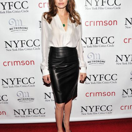 2cd6a5bc03 10 Ways to Wear a Pencil Skirt: #1 -- Wear a Leather Pencil Skirt